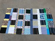 Vtg Handmade Patchwork Quilt Top Unfinished Fabric 38x65