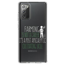 Clear Case for Galaxy Note Farming Not Career Post Apocalyptic Skill