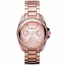 Michael Kors MK5613 Rose Gold Crystal Blair Mini Watch