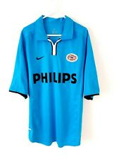 PSV Eindhoven Away Shirt 2001. Medium. Nike Blue Adults Short Sleeves Top Only M