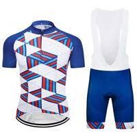 Unique Cycling Clothing Set Men's Bike Jersey Bib Shorts Kits Shirt Pants Suits