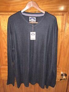 NWT Dakota Grizzly Mens Size XXL V-Neck Pullover Long Sleeve Shirt Gray Graphite