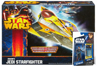 Star Wars Clone Was Anakin Skywalker & Jedi Star Fighter Action Figures and Ship