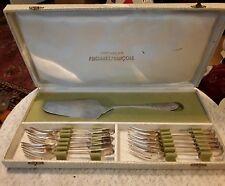 French Antique Art Nouveau Boxed Dessert Set – Forks & Server - F. Frionnet