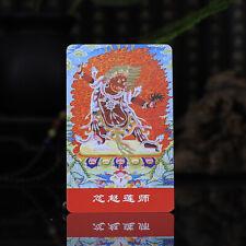 """3.4"""" Tibet Tibetan Buddhism Exquisite Amulet thangka Anger Padmasambhava Buddha"""