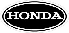 #673(1) Honda Vintage Logo Oval Laminated Reproduction Decal Sticker BLACK