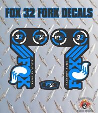 Fox 32 BLU FORK Adesivi Decalcomanie Grafiche mountain bike Down Hill MTB