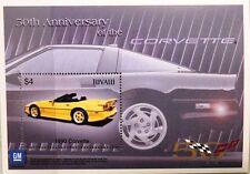 Tuvalu 2003 blocco 105 CHEVROLET CORVETTE 1990 automobile car auto auto sportive MNH