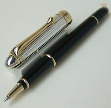 AURORA 88 OTTANTOTTO SILVER LINEAR CAP AND BLACK BARREL ROLLER BALL PEN AWESOME!