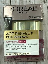 L'Oreal Skin Care Age Perfect Cell Renewal Rosy Tone Mask 1.7 Ounce