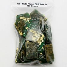 100+ GOLD PLATED SCRAP CIRCUIT BOARDS 150 GRAMS Alarm Remotes *DOUBLE SIDED*