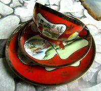 vintage sammel gedeck feines japanisches porzellan mit geisha litophanie 3 tlg