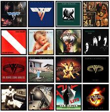VAN HALEN 16 pack album cover discography magnet lot - eddie alex david lee roth