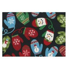 St. Nicholas Square Christmas Mittens Accent Rug ~ 30'' x 20'' - NEW with tags