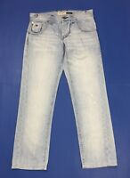 Energie burney jeans uomo usato W33 tg 47 denim blu boyfriend straight T3202