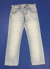Energie burney jeans uomo slim w33 tg 46 47 denim blu boyfriend straight T3202