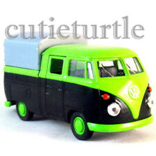 "Welly 4.75"" VW Volkswagen T1 Double Cabin Pick Up Truck 49720SPD-02 Green Black"