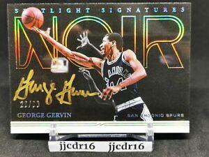 George Gervin 20-21 Noir SP Clean Auto /99 Spurs Signed Both Sides HOF (Error?!)
