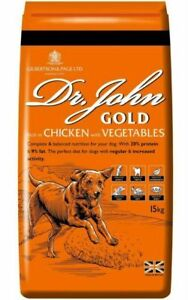 Dr John Gold Adult Working Dog Food 2 x15KG (30KG) with FREE NEXT DAY DELIVERY