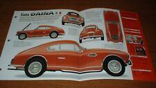 ★★1951 SIATA DAINA GT 208C ORIGINAL IMP BROCHURE SPECS INFO 51 50-58★★