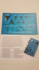 """8 x 5 """" Identification card with 1 Bag 25+ Sharks Teeth from Florida"""