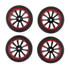 4 pièces rc voiture de course pneus et jante pour 1/10 hsp hpi redcat