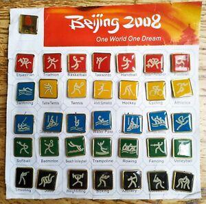 Pictogram XXIX Olympic Games Pin Badge Full Set 36 pcs Beijing 2008 China Sport