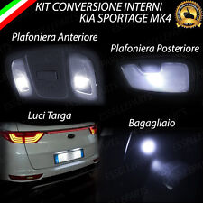 KIT LED INTERNI + LED TARGA KIA SPORTAGE MK4 CONVERSIONE COMPLETA 6000K CANBUS