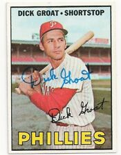 DICK GROAT - SIGNED/AUTO/AUTOGRAPH ON A 1967 BASEBALL CARD - PHILLIES