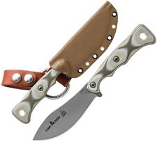 "TOPS Camp Creek Fixed Knife 4.38"" S35VN Steel Full Tang Blade Camo G10 Handle"
