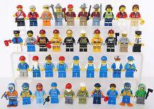 39 LEGO MINIFIGS MINI FIGURES mixed lot assortiti Bundle Pompiere miner di ottano lavoro