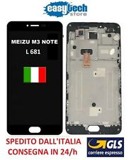 LCD Display Touch Screen FRAME CORNICE  Assembly MEIZU M3 Note  L 681  NERO