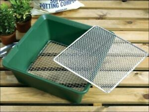 Garden Sieve Riddle Garland '2 in 1' Sieve Green Made From Tough Galvanised Wire