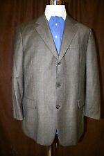 Brooks Brothers Madison Suit Jacket Italian Fabric Wool Glen Plaid 45L