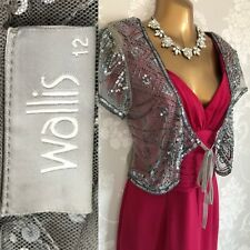 Wallis Cardigan Size 12 Silver Evening Party Cruise.