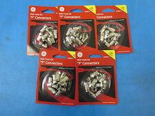 GE 43306 RG6 Weatherproof Twist-On F Connectors - Lot of 5 10 Packs 50 Pieces