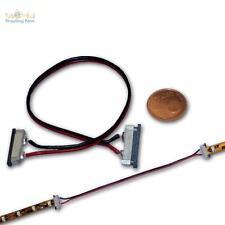 5 Stk Schnellverbinder 2-polig SMD LED Strip mit 15cm Kabel Verbinder für Stripe