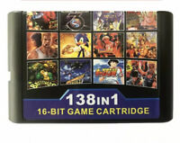 Super 138 in 1 Game Cartridge 16 Bit For Sega Mega drive Multi Cart Retro
