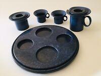 🔴 Bellissimo tète a tète servizio caffè anni 70 design in ceramica vetrochina