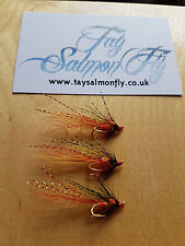 3x Stenton Shrimp Gold Double Size 14 Salmon Fishing Flies