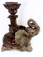 Vtg Decorative Elephant Candle Holder Candlestick Figural Statue Home Decor
