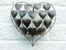 Love Heart Tealight Candle Holder Wall Art Sconce - Gold Heart T Lite
