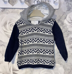 Boys Age 3-6 Months - Hooded Top From The Little White Company