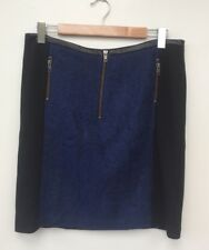 NWT DANGERFIELD Teddy Boy Ladies Skirt Size 14 Blue Wool