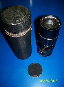 VINTAGE SEARS TELE-ZOOM 90-230mm 1:4.5 LENS w/case & lens caps EXC  Screw on
