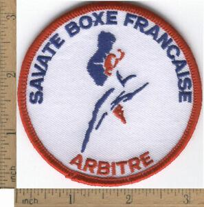 Vintage Savate Boxe Francaise Arbitre/Referee Patch, Kick Boxing Kickboxing