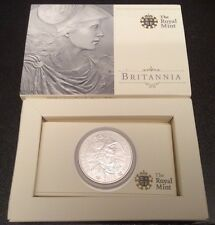 2010 Royal Mint Silver Bullion 1 ounce Britainnia £2 Coin Encapsulated