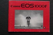 CANON EOS1000 INSTRUCTION MANUAL