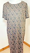 Wallis Size 18 Black Brown Work Tunic Dress Aztec Pattern Baggy BNWT Knee Length