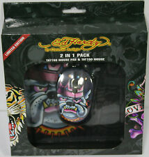 Ed Hardy Limited Edition Tattoo Mouse plus Mouse Pad - Black